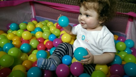 LOVING his ball pool